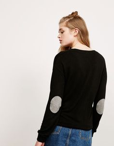 BSK plush elbow patch jumper. Discover this and many more items in Bershka with…