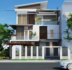 House House & Garden house for sale in bell gardens ca Minimalist House Design, Modern House Design, Facade Design, Exterior Design, Building Design, Building A House, Modern Bungalow House, Beautiful Home Designs, House Front Design