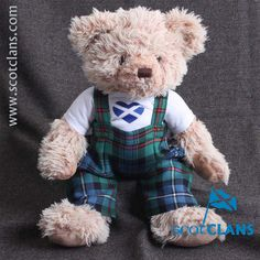 Dugald Ancestral Bear in Robertson Tartan. Free worldwide shipping available