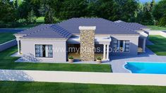 3 Bedroom House Plan – My Building Plans South Africa Round House Plans, My House Plans, Family House Plans, Village House Design, Village Houses, My Building, Building Plans, Beautiful House Plans, Beautiful Homes