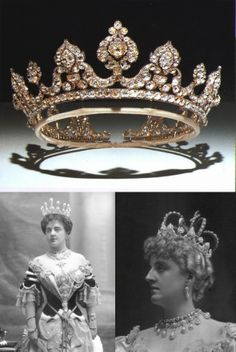 The Londonderry tiara (now in the V&A) in three different incarnations