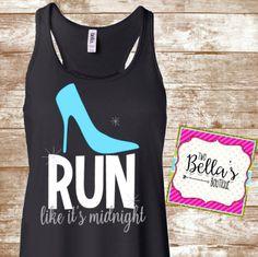 Run like it's midnight tank- Flowy tank- Running- Running tank- Workout tank- Work out- Fitness tank- Fitness- Fitness shirt-Run shirt by…