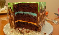 Minecraft Cake by m0ffleb0x, via Flickr