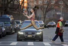 Dancers Among Us by Jordan Matter - Crosswalk Senior Pictures, Girl Pictures, Dancers Among Us, Something In The Way, Ballet Photography, Girl Reading, Just Dance, Oprah, Dance Costumes