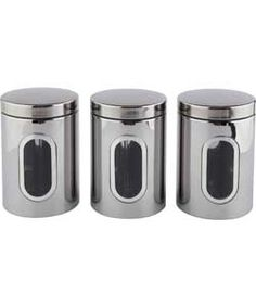 Stainless Steel Storage Canisters.