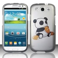 Amazon.com: Samsung Galaxy S3 III i9300 - Rubberized Design Cover - Eating Panda Bear: Cell Phones & Accessories