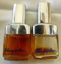 VTG 1977 Set of 2 Avon Unspoken Ultra cologne spray bottles 1.8 oz ea | eBay