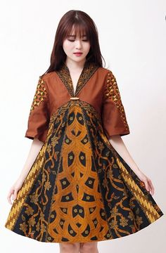 Dress batik Batik Long Dress, Model Dress Batik, Model Baju Batik, Model Kebaya Muslim, Batik Muslim, Muslim Long Dress, Indonesia Fashion, Blouse Batik, Batik Pattern