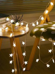 b1cad64e22 20pcs Star Bulb String Light 12vFor Women-romwe Star String Lights, White  String Lights
