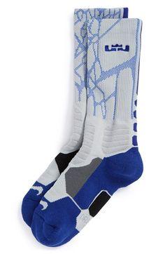 Boy's Nike 'LeBron - Hyper Elite' Cushioned Basketball Crew Socks