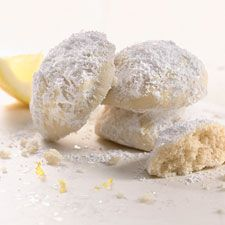 """Lemon Snowball Cookies {King Arthur Flour} ~ """"This is a lemony take on Wedding Cookies; they literally melt in your mouth."""