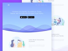 Music Streaming Apps Landing Page by Ibnu Mas'ud