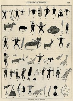 freakyfauna:    Signs used in hunting (presumably by the Iroquois)From Strand Magazine (1895).  Found here.