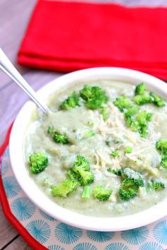 Slow Cooker Creamy Cauliflower Broccoli Soup - 365 Days of Slow Cooking