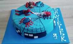 Spiderman cake Spiderman, Birthday Cake, Desserts, Food, Spider Man, Birthday Cakes, Postres, Deserts, Hoods