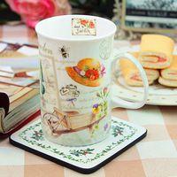 Rústico xícara de porcelana de ossos clássico porcelana copo exquisite fantasia copo caneca 01