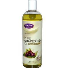จำหน่าย ซื้อ ขาย อาหารเสริม เมล็ดองุ่น (grape seed) ราคาส่ง ยี่ห้อ Life Flo Health, Pure Grapeseed Oil, 16 fl oz (473 ml)