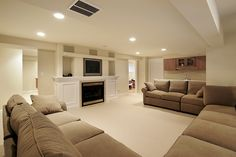 Basement conversion living room