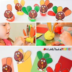 Thanksgiving Crafts For Kids, Thanksgiving Activities, Crafts For Kids To Make, Thanksgiving Turkey, Fall Crafts, Activities For Kids, Turkey Games, Turkey Feathers, Learning Numbers