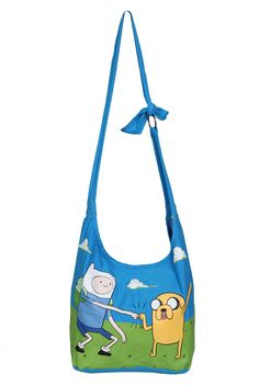 Adventure Time Finn & Jake Hobo Bag | Hot Topic Cute bag looks like it'd be fairly easy to make out of old tshirts