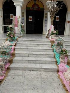 Sidewalk, Bloom, Baptism Ideas, Table Decorations, Home Decor, Weddings, Fiestas, Bebe, Decoration Home