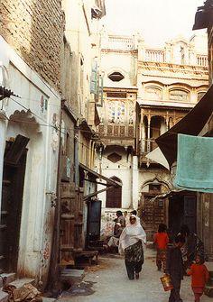 back street  Rawalpindi, Pakistan-1984