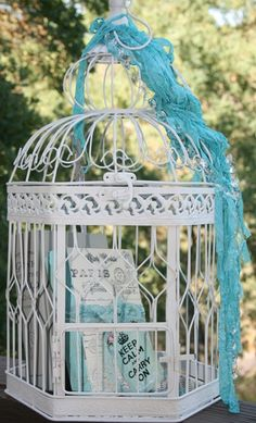 Have mix matched birdcages to keep your herbs and berries in! No critters or birds will be able to eat all your fresh food!