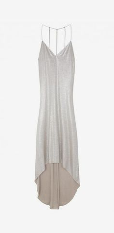 Grey maxi dress with strappy back//