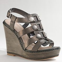 "Coach Mallorie Wedge High-fashion yet down to earth, a confident wedge that feels good and looks amazing. Leather lining, vintage metallic leather. 4 1/2"" platform heel. Excellent used condition, only worn once. Fits a 7-7.5. Coach Shoes Wedges"