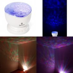 Ocean Wave Night Light Best Star Projector Mood Lamp Ambient Color Changing LED #Deneve