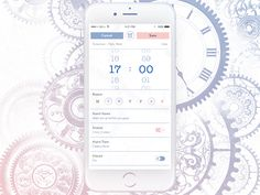 Daily UI #007 - Alarm Settings by Virág Veszteg