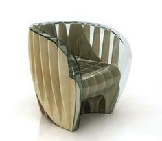 Histogram Chair by Italian designer Fabio Novembre.it/love. Diy Cardboard Furniture, Funky Furniture, Furniture Styles, Furniture Design, Contemporary Chairs, Modern Chairs, Dining Room Table Chairs, Plastic Adirondack Chairs, Higher Design