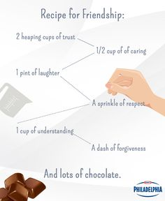 The recipe for a perfect friendship. #Inspiration