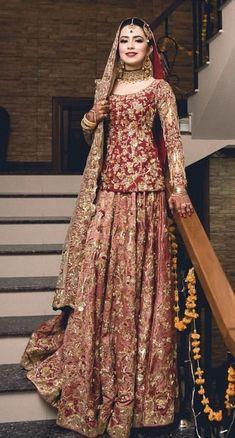 Asian Bridal Dresses, Pakistani Wedding Outfits, Indian Bridal Outfits, Pakistani Bridal Dresses, Indian Fashion Dresses, Indian Bridal Wear, Pakistani Wedding Dresses, Pakistani Dress Design, Wedding Sarees