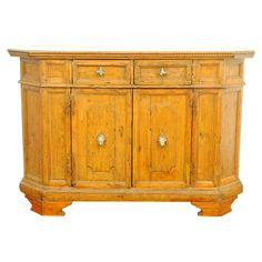 Italian Baroque Style Pine Credenza, antique and later elements | 1stdibs.com