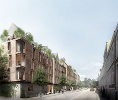 Gallery of WE Architecture's Winning Proposal Combines Green Space with Social Housing in Aarhus - 1