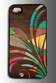 Wood Flower Design iPhone Case