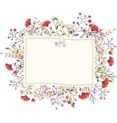 Retro flower for wedding invitation frame vector - by bejotrus on VectorStock®