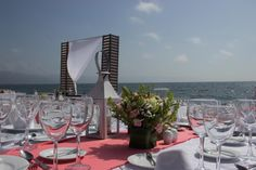 Treat your guests to a gorgeous view during the reception #NowAmberPuertoVallarta #Mexico #DestinationWedding