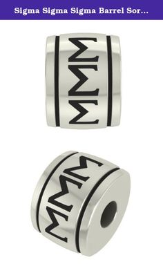 Sigma Sigma Sigma Barrel Sorority Bead Charm Fits Most European Style Bracelets. Collegiate beads are officially licensed and designed to fit most Pandora style bracelets. These beads are made from solid sterling silver and are the highest quality beads on the market. If you are not happy with any of our products we will refund your money.