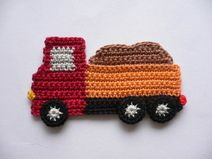 Sandlaster – crochet application … - Home Page Crochet Car, Crochet Blocks, Crochet For Boys, Cute Crochet, Crochet Crafts, Crochet Toys, Crochet Projects, Crochet Applique Patterns Free, Baby Knitting Patterns