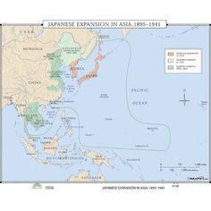 Universal Map World History Wall Maps - Japanese Expansion in Asia Byzantine Empire Map, World History Map, Aids In Africa, National Geographic Maps, Asia Map, Teacher Created Resources, Earth Surface, Classroom Walls, Wall Maps