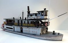 HO Scale C. LAMB Sternwheeler Ship, Model railroad craftsman quality structure and detail kits, model boat Wooden Boat Plans, Wooden Boats, Congo, Steam Boats, Window Glazing, Boat Projects, Boat Kits, Boat Dock, Jon Boat