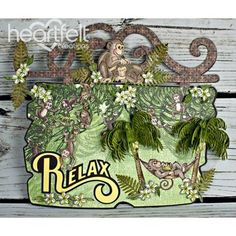 Heartfelt Creations - Relaxing Monkey Sign Project #fathersday