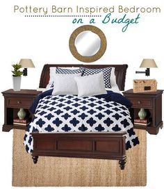 Great Pottery Barn Inspired Bedroom For Less   Sunny Sweet Days