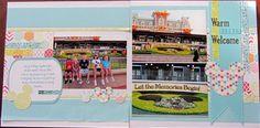 Disney Scrapbook Warm Disney Welcome