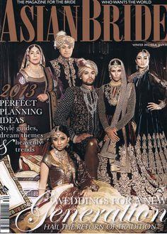 Asian Bride magazine Magazine Front Cover, Shyamal And Bhumika, Asian Bridal, Photoshoot Inspiration, Headgear, Asian Woman, Style Guides, Indian Fashion, Heaven