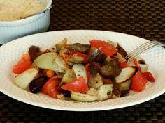Easy Eggplant Salad With Roasted Garlic Vinaigrette