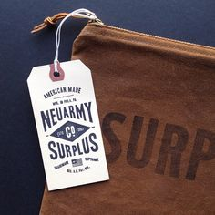 American made NEUARMY SURPLUS #hangtag