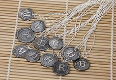 Wax Seal Initial Stamp Necklace-wax seal initial stamp necklace, fine silver, wax letter seal, wax seal charm, freshwater pearl, sterling si...